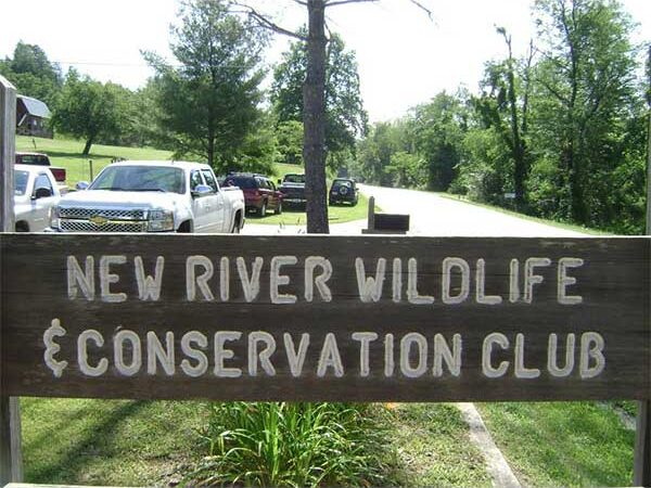 Picture of New River Wildlife and Conservation Club sign