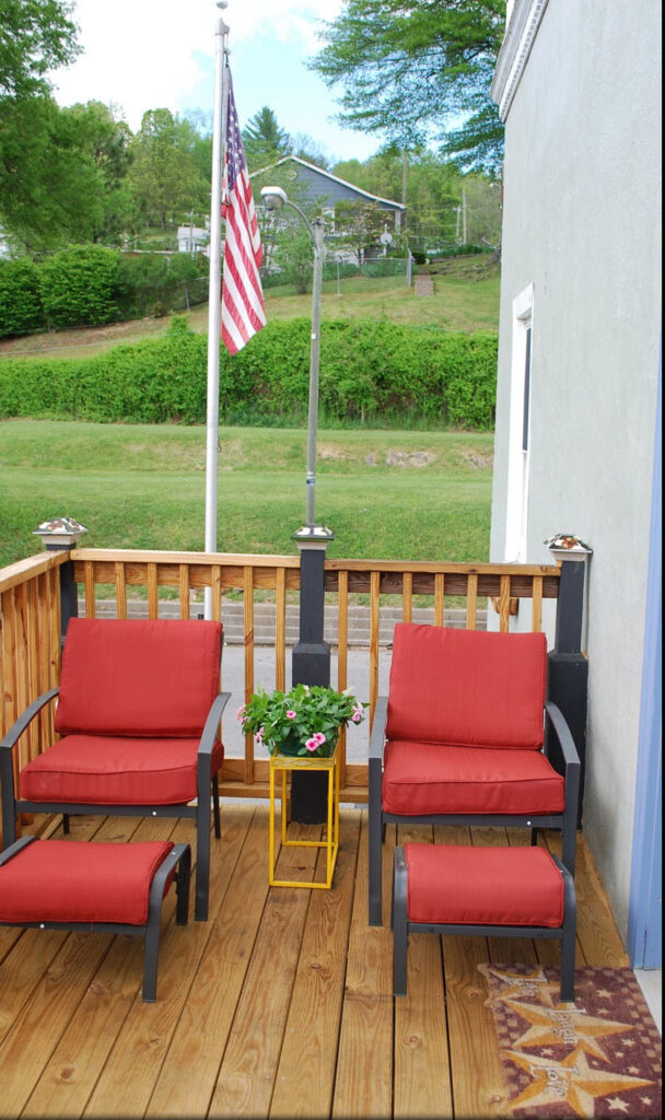 Picture of chairs on porch
