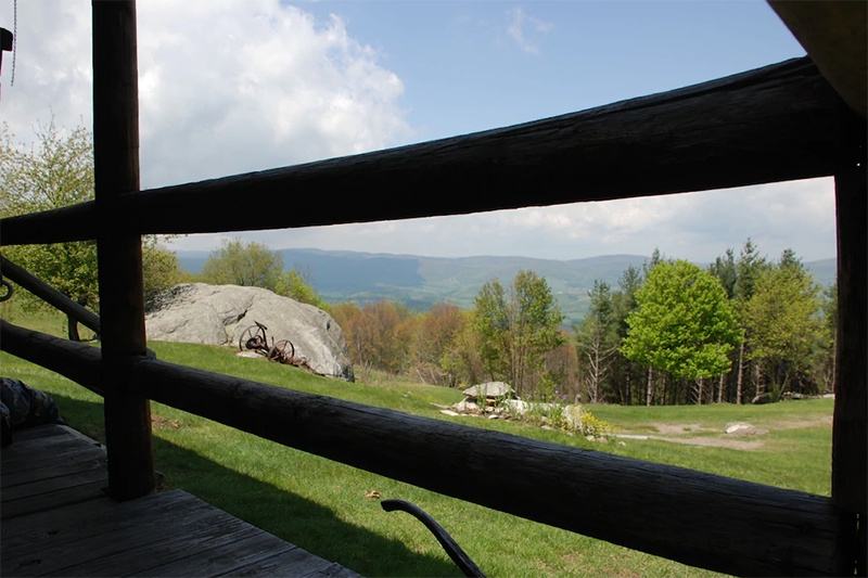View of mountains from big ridge retreat